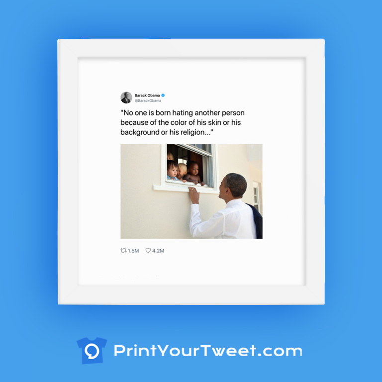 How to Frame a Tweet with PrintYourTweet